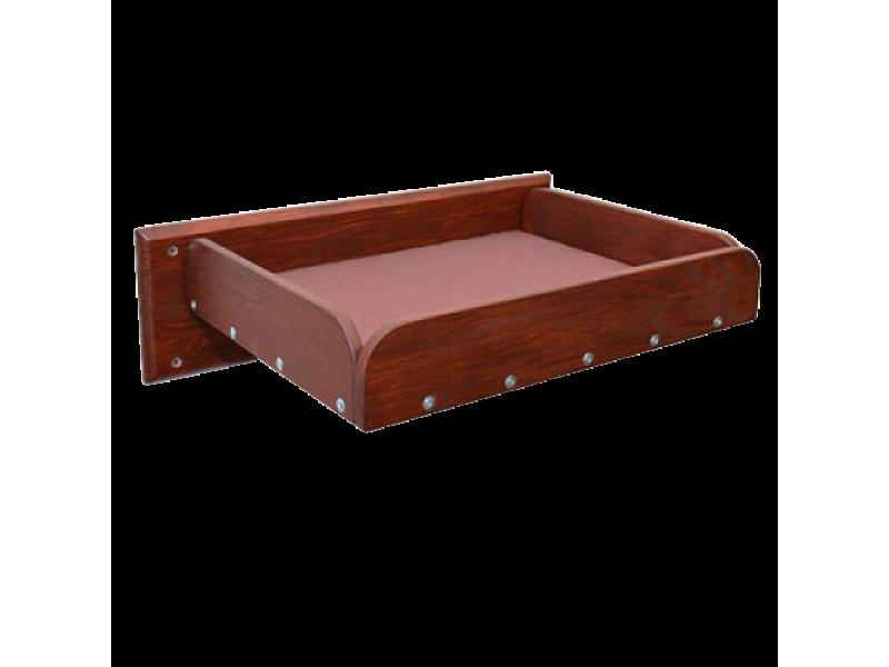 Полка кроватка настенная для кошек Красное дерево  - Фото