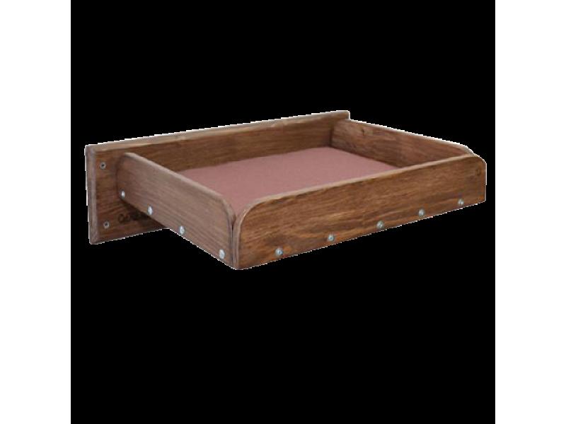 Полка кроватка настенная для кошек Шоколад  - Фото