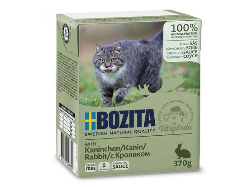 Bozita Feline Кусочки в СОУСЕ с КРОЛИКОМ (Rabbit), для кошек, 370 гр    - Фото