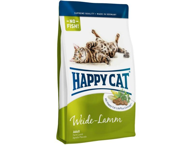 Сухой корм Happy Cat Supreme с ЯГНЕНКОМ для кошек (Adult mit Weide-Lamm) - Фото