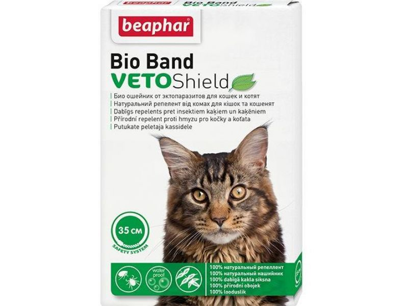 Beaphar Ошейник от насекомых для кошек и котят (Bio Band Plus), 35 см  - Фото