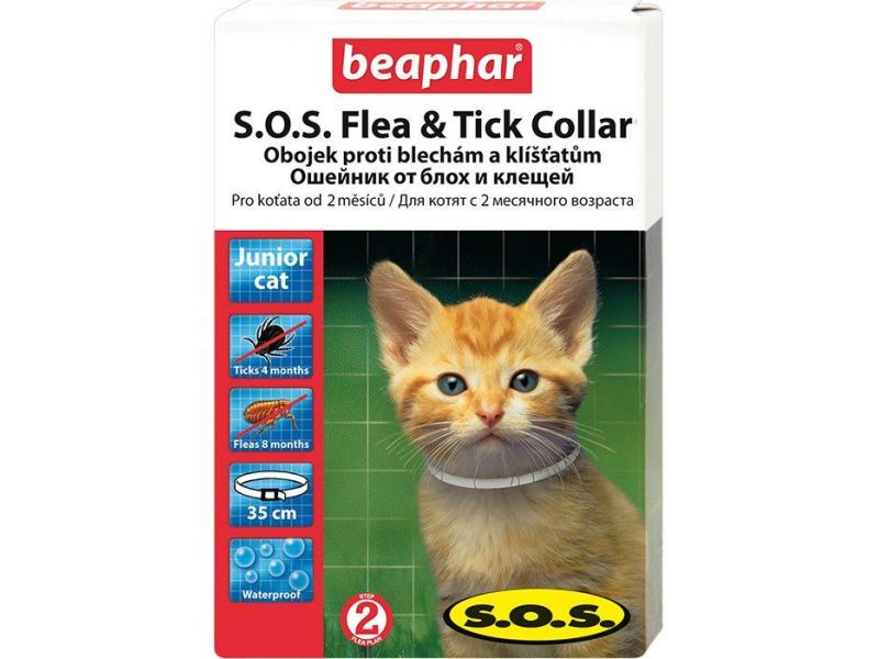 Beaphar Ошейник от блох и клещей для котят старше 2 месяцев (SOS Flea and Tick Collar) - Фото