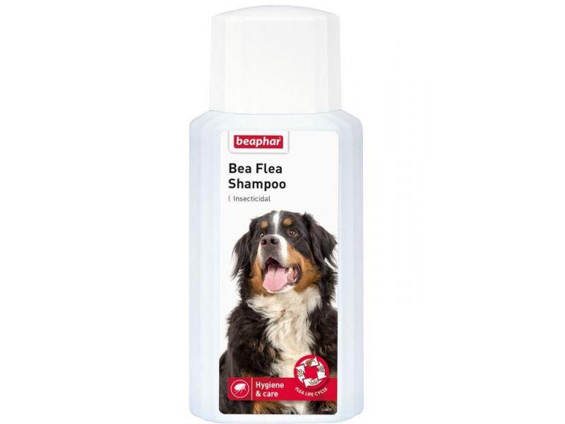 Beaphar ШАМПУНЬ от блох и клещей для собак (Bea Flea Shampoo insectidal), 200 мл - Фото