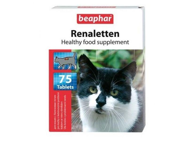 Beaphar Витамины для кошек с проблемными почками (Renaletten), 75 таб. - Фото