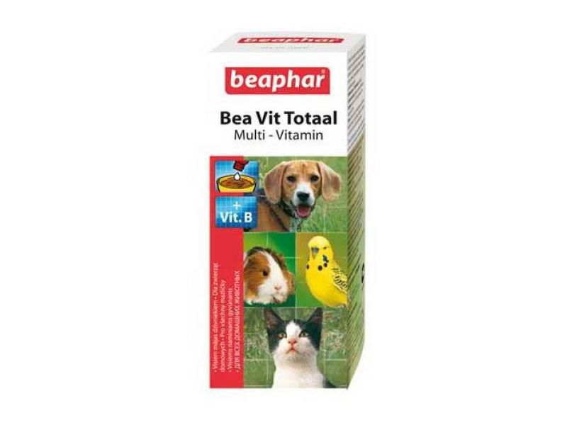 Beaphar Витамины во время ЛИНЬКИ для собак, кошек, птиц и грызунов (Vit Total), 50 мл - Фото