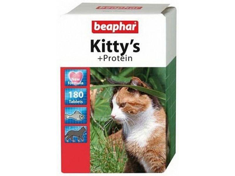 Beaphar Витамины для кошек с протеином, рыбки (Kitty's Protein) - Фото