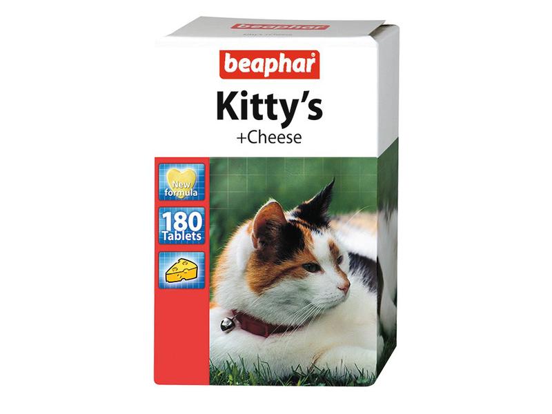 Beaphar Витамины для кошек со вкусом сыра, мышки (Kitty's Cheese) - Фото