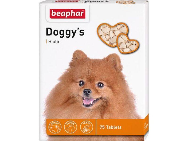 Beaphar Витамины с БИОТИНОМ для собак (Doggy`s+Biotin), 75 шт. - Фото