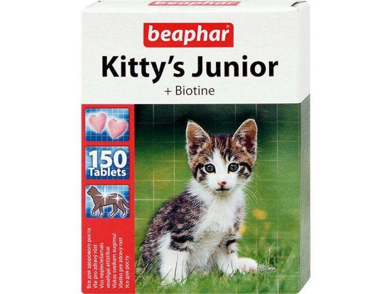 Beaphar Витамины для котят (Kitty's Junior + Biotin) - Фото