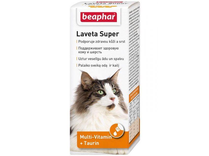 Beaphar Витамины для кожи и шерсти Кошек, масло (Laveta Super for Cats), 50 гр - Фото
