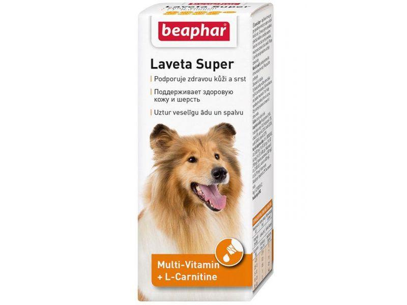 Beaphar Витамины для ШЕРСТИ собак (Laveta Super for Dogs), масло, 50 мл - Фото