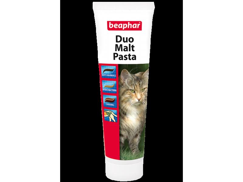 Beaphar Двойная Паста для вывода шерсти (Duo Malt Paste), 100 гр - Фото