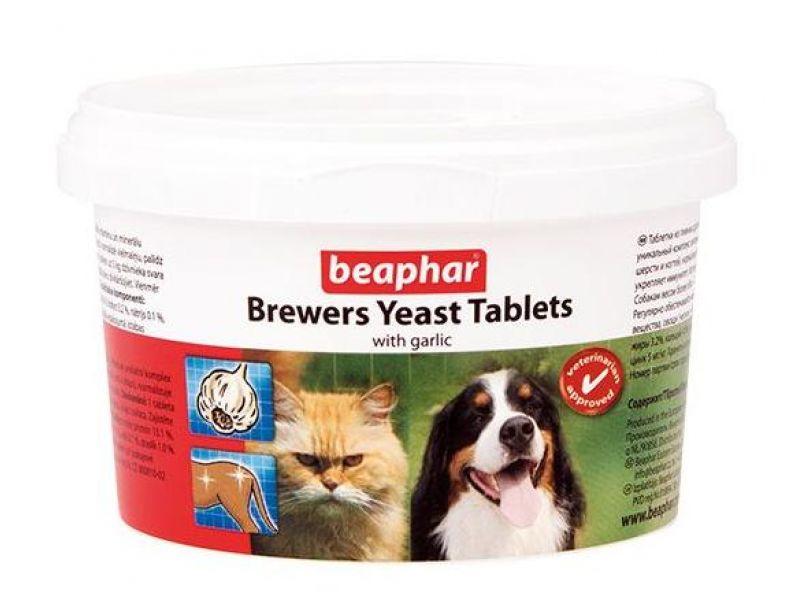 Витамины Beaphar для собак и кошек с ПИВНЫМИ ДРОЖЖАМИ и ЧЕСНОКОМ (Brewers Yeast with garlic), 250 шт. - Фото