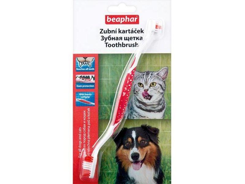 Beaphar Зубная щетка двойная для собак и кошек (Toothbrush 70971) - Фото