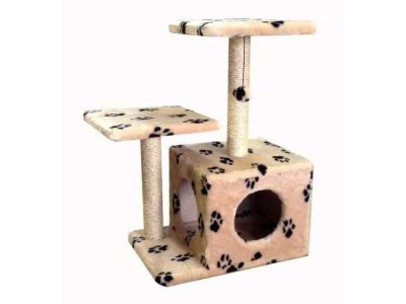 """Darsy Домик """"Lerry"""", для кошки, меховой, РАЗНЫЕ РАСЦВЕТКИ, 35*50*70 см  - Фото"""