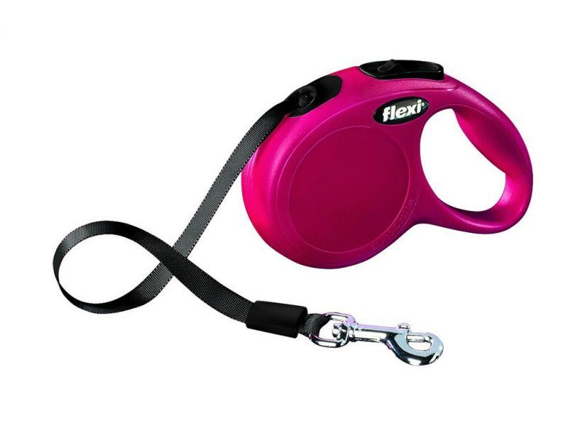 Flexi Рулетка-ремень для собак до 15 кг, 5 м (New Classic S tape 5m) - Фото