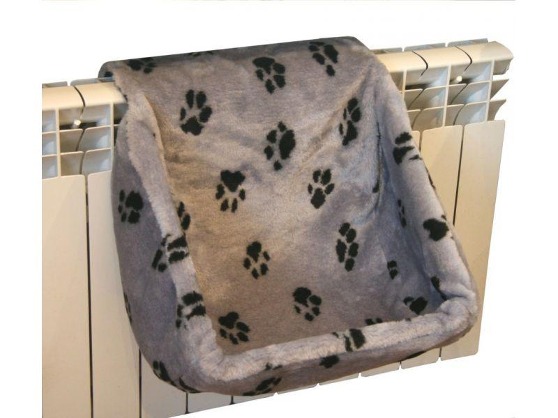 Darsy Лежак - гамак на радиатор для кошки, мех, 16 РАСЦВЕТОК, 40*30*37 см - Фото