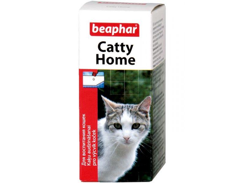 """Beaphar Капли """"CATTY HOME"""" для приучения кошек и котят к месту, где можно точить когти, 10 мл   - Фото"""