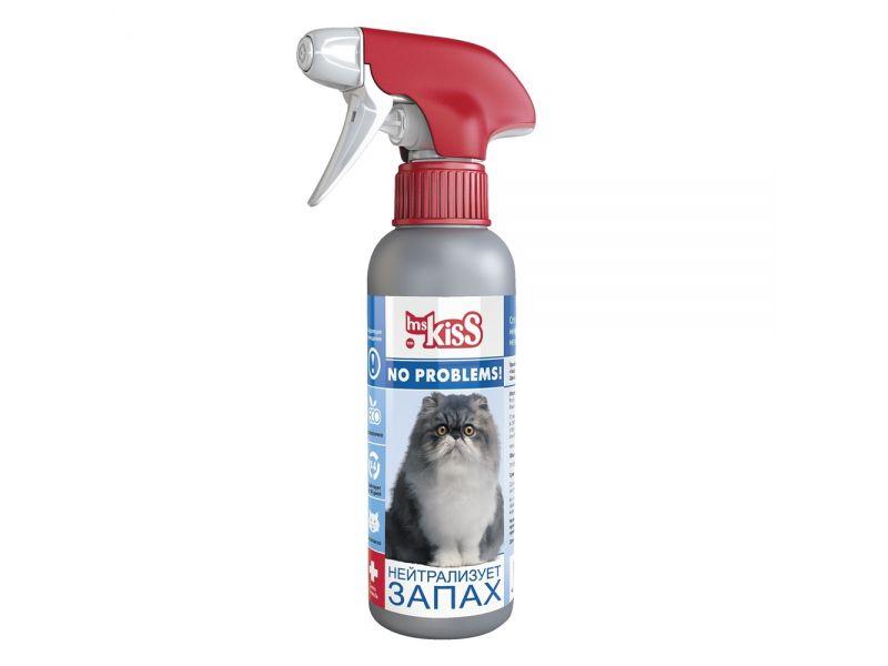 """Ms KIss Спрей No problems """"Нейтрализатор запаха"""" для кошек, 200 мл - Фото"""