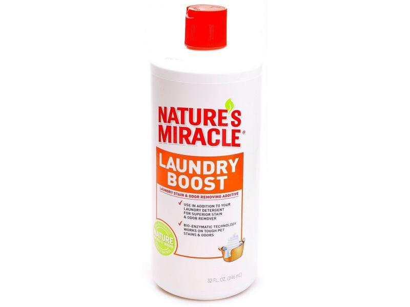 Nature's Miracle Моющее средство для уничтожения пятен, запахов и аллергенов (NM Laundry Boost- Stain odor additive), 907 мл   - Фото