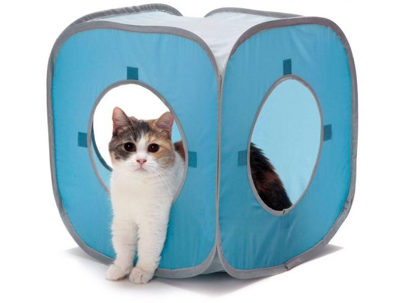 "Kitty City Домик ""Кубик Рубик"" (Kitty Play Cube), для кошек, 38*38*38 см - Фото"