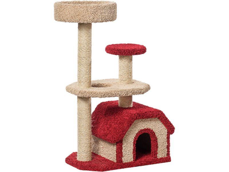 """Пушок Домик """"Конура"""", ковролин, для кошек, 67*46*116 см - Фото"""