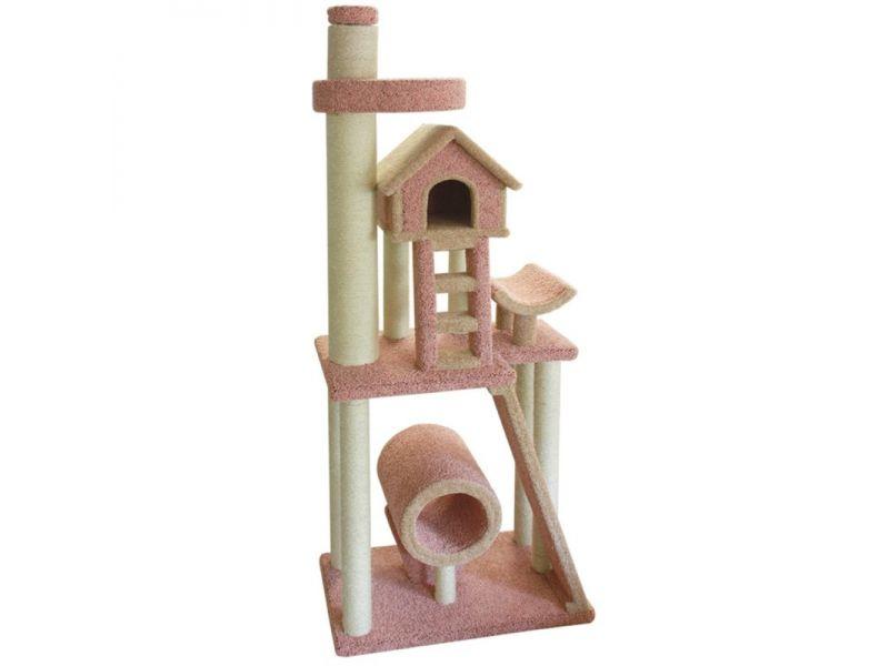 """Пушок Комплекс """"Памбает"""" с упором в потолок, ковролин, для кошек, 97*65 см   - Фото"""