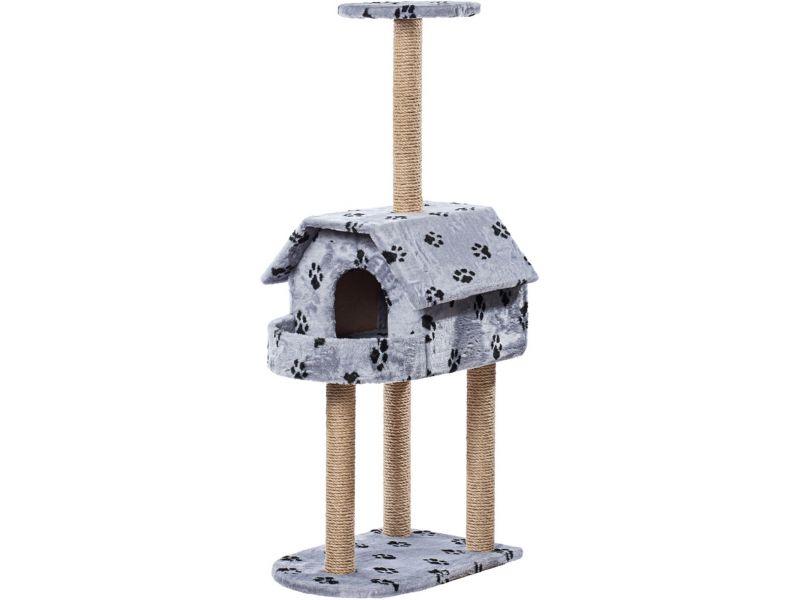 """Пушок """"Домик с балконом"""", искусственный мех, для кошек, 61*41*140 см - Фото"""