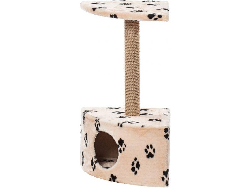 """Пушок Домик """"Угловой"""", искусственный мех, для кошек, 42*42*80 см - Фото"""