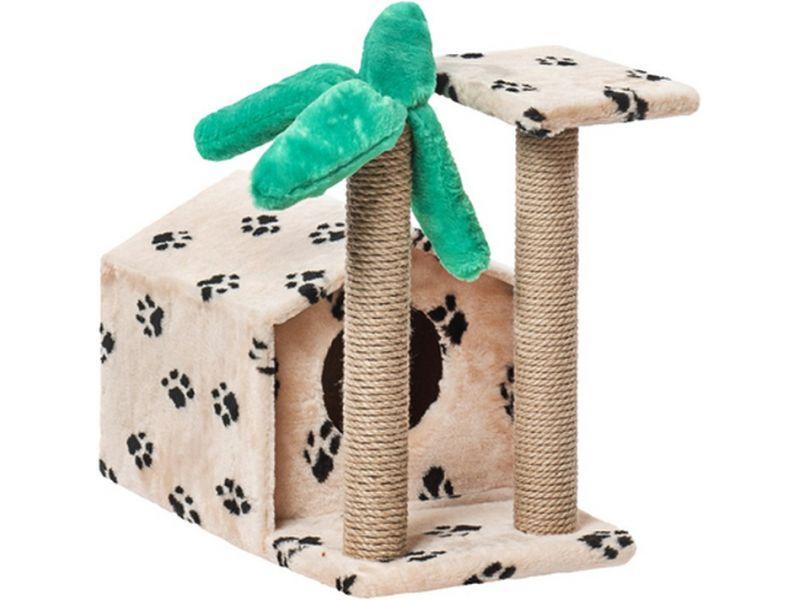 """Пушок Домик """"Тропический"""", искусственный мех, для кошек, 62*37*54 см - Фото"""