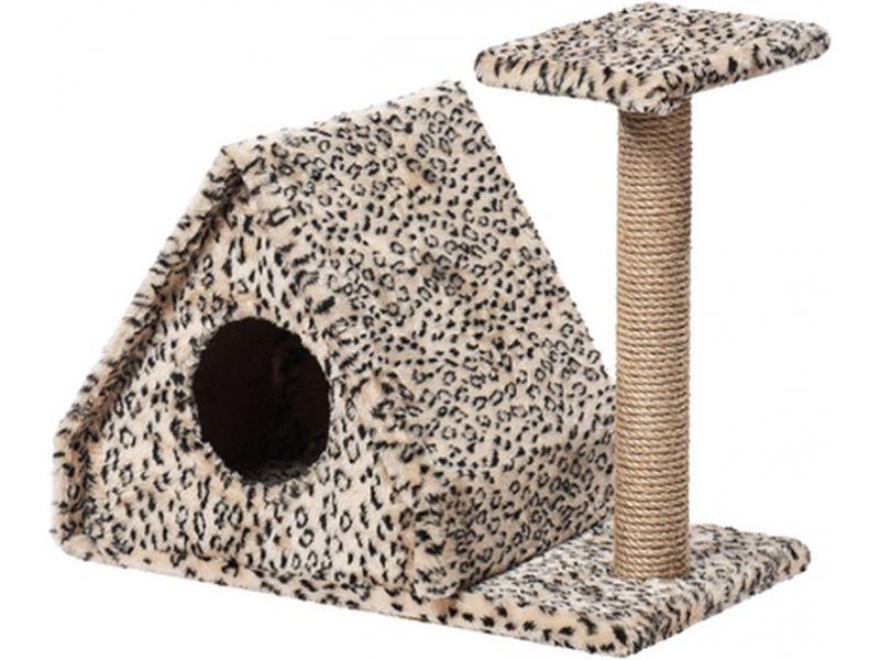 """Пушок Домик """"Избушка"""", искусственный мех, для кошек, 62*37*54 см - Фото"""