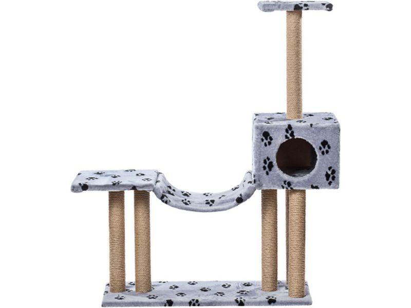"""Пушок """"Домик с гамаком и площадкой"""", искусственный мех, для кошек, 92*36*132 см  - Фото"""