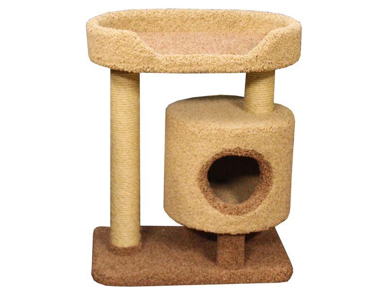 """Пушок Домик """"Кими"""", ковролин, для кошек, 65*40*80 см - Фото"""