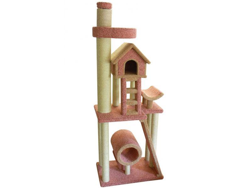 """Пушок Комплекс """"Памбает"""" с упором в потолок, ковролин, для кошек, 95*65 см   - Фото"""