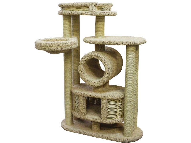 """Пушок Комплекс """"Бобоша"""", ковролин, для кошек, 100*40*145 см  - Фото"""