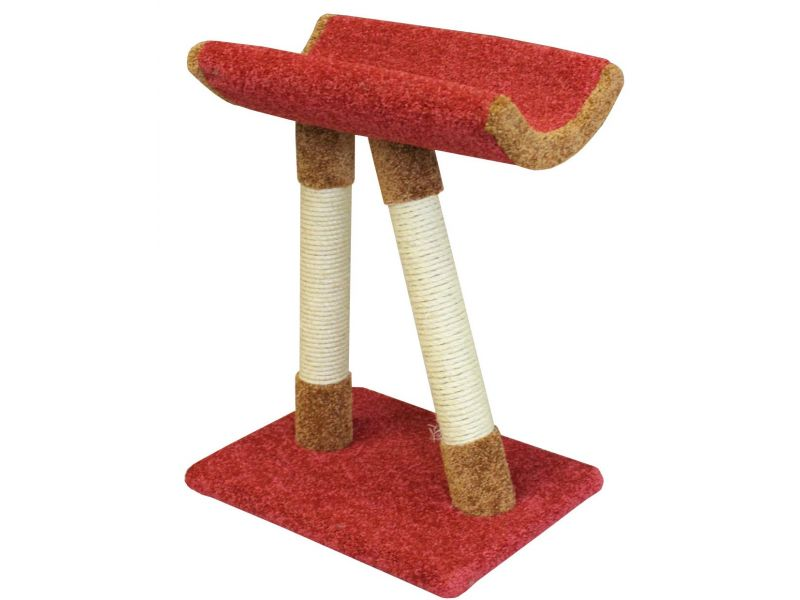 """Пушок Когтеточка """"Косая ножка"""", ковролин, для кошек, 48*37*64 см - Фото"""
