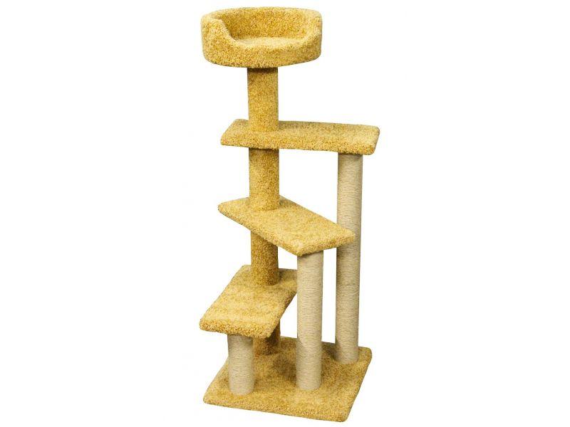 """Пушок Когтеточка """"Винтовая лестница"""", ковролин, для кошек, 60*60*140 см - Фото"""