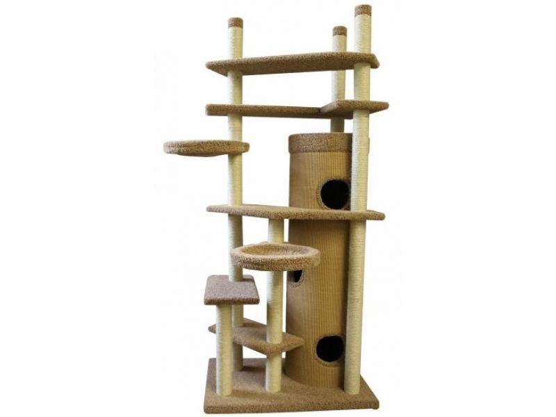 """Пушок Комплекс """"Мурляша"""" с упором в потолок, ковролин, для кошек, 70*90 см   - Фото"""