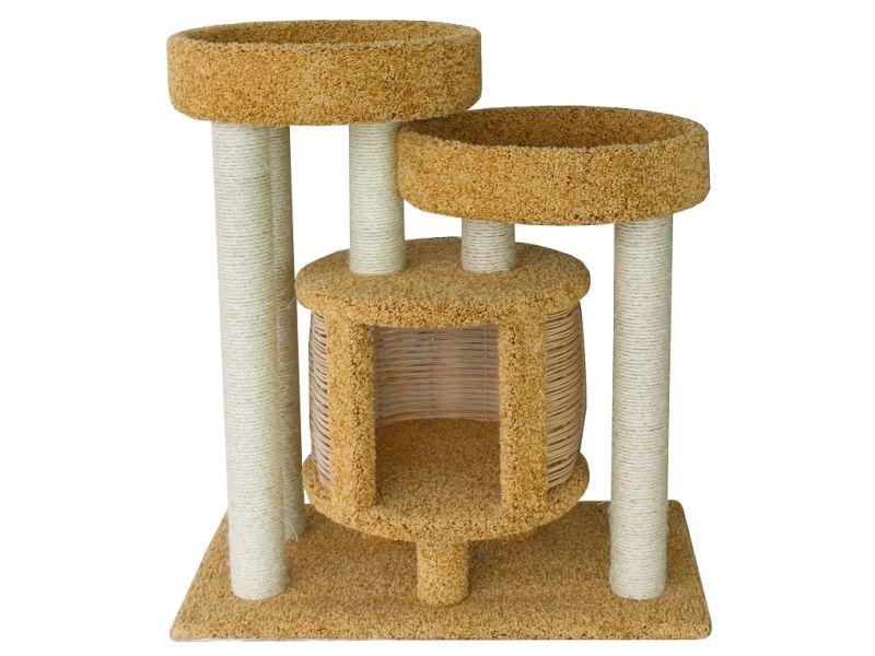 """Пушок Домик """"Понго"""", ковролин, для кошек, 90*52*100 см   - Фото"""