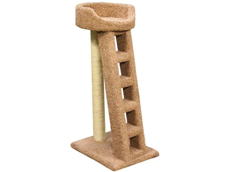 """Пушок Когтеточка """"Лежанка с лестницей"""", ковролин, для кошек, 60*45*115 см - Фото"""