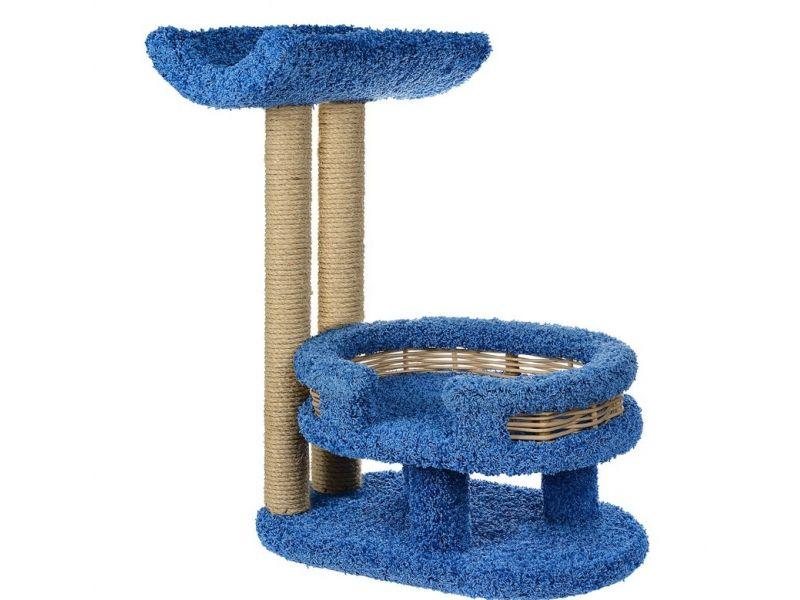"""Пушок Когтеточка """"Лежанка с седлом"""", ковролин, для кошек, 45*60*75 см   - Фото"""