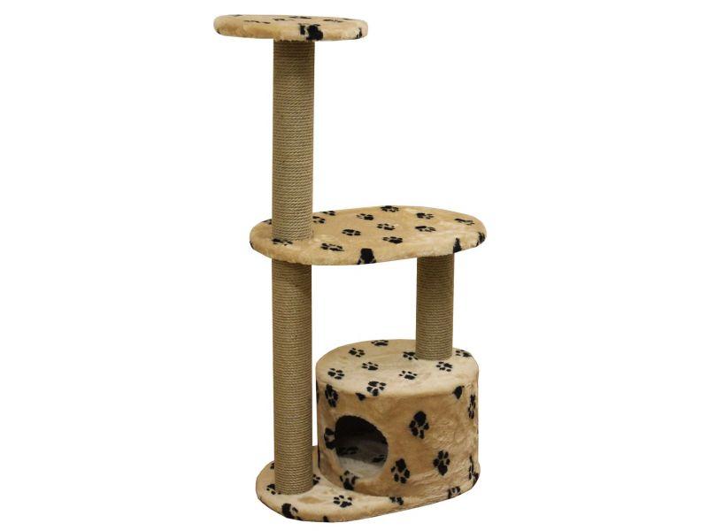 """Пушок Домик """"Бешка"""", искусственный мех, для кошек, 60*40*110 см   - Фото"""
