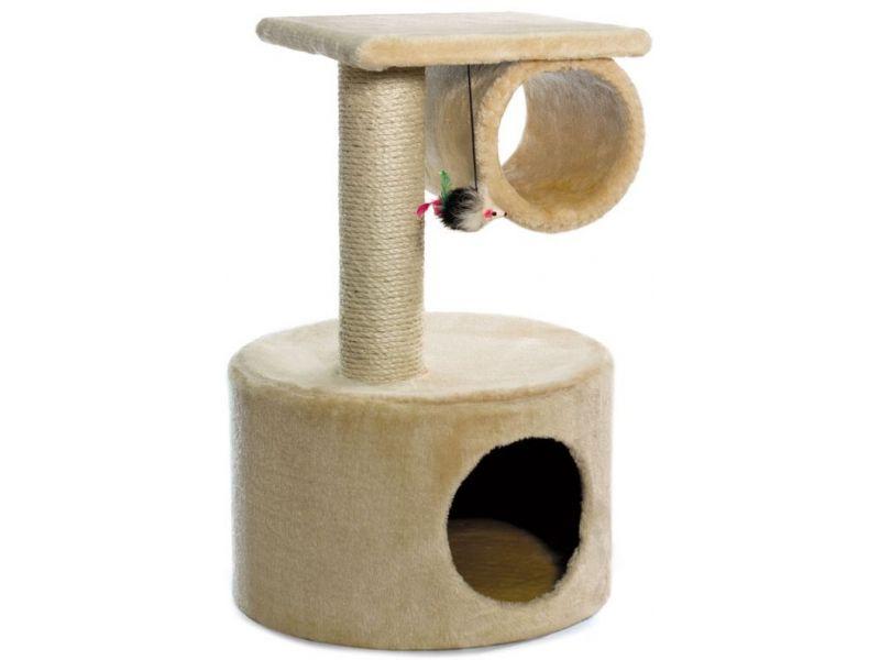 Triol Домик-когтеточка (NT3068) для кошек, 39*39*62 см - Фото