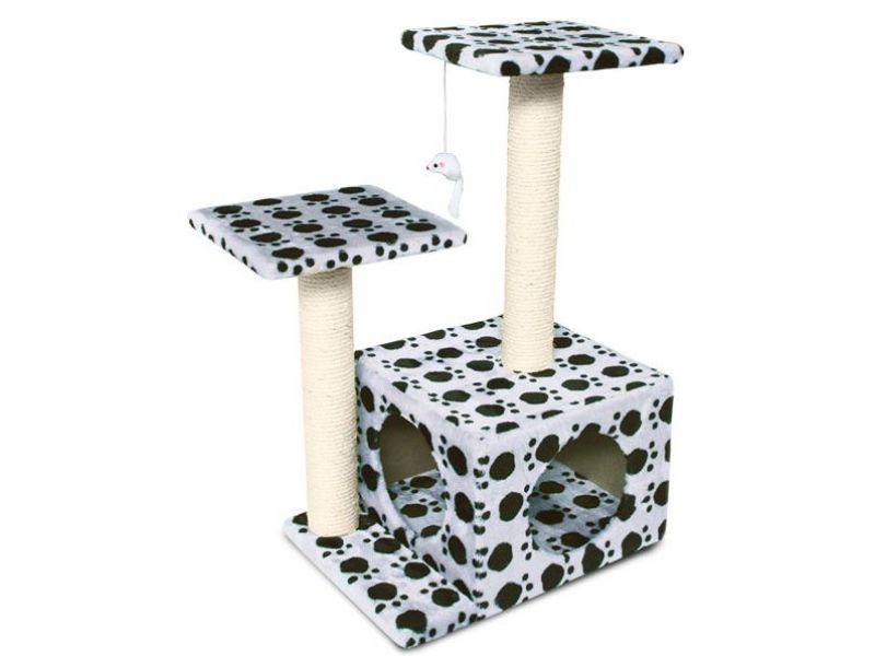 Triol Домик-когтеточка для кошек (TM04), 45*33*70 см - Фото