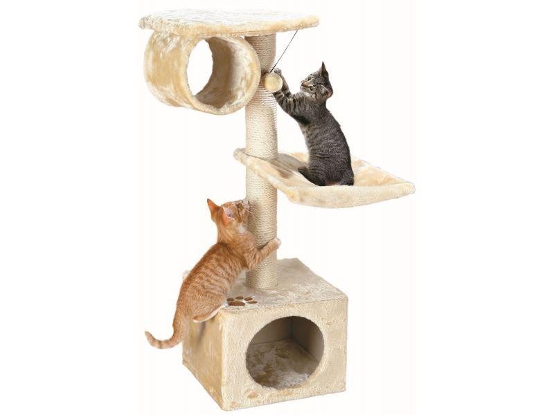 """Trixie Домик меховой для кошки """"San Fernando"""" (43951), бежевый, 36*36*106 см - Фото"""