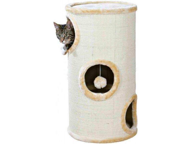 "Trixie Домик для кошки меховой ""Башня"" (4330), 36*70 см - Фото"