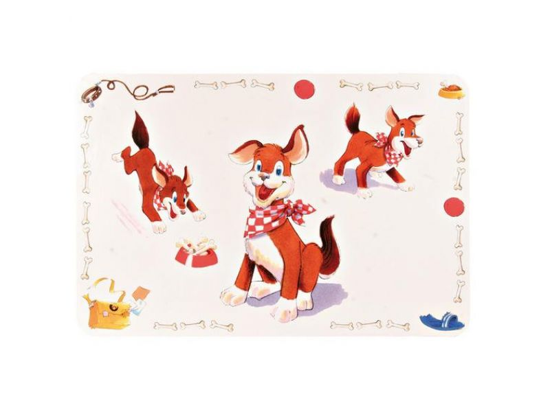 """Trixie Коврик под миску для собак """"Собака"""" (24471), 56*38 см  - Фото"""