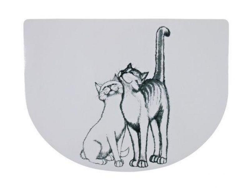 """Trixie Коврик под миску """"Кошечка"""" (24540), 40*30 см  - Фото"""