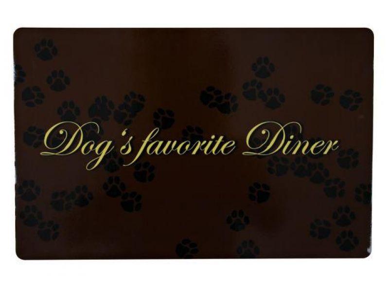 """Trixie Коврик под миску """"Dog's favourite Diner"""" (24548), 44*28 см  - Фото"""