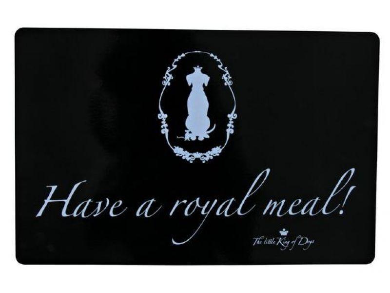 "Trixie Коврик под миску для собак ""Have a royal meal!"" (24472), 44*28 см  - Фото"